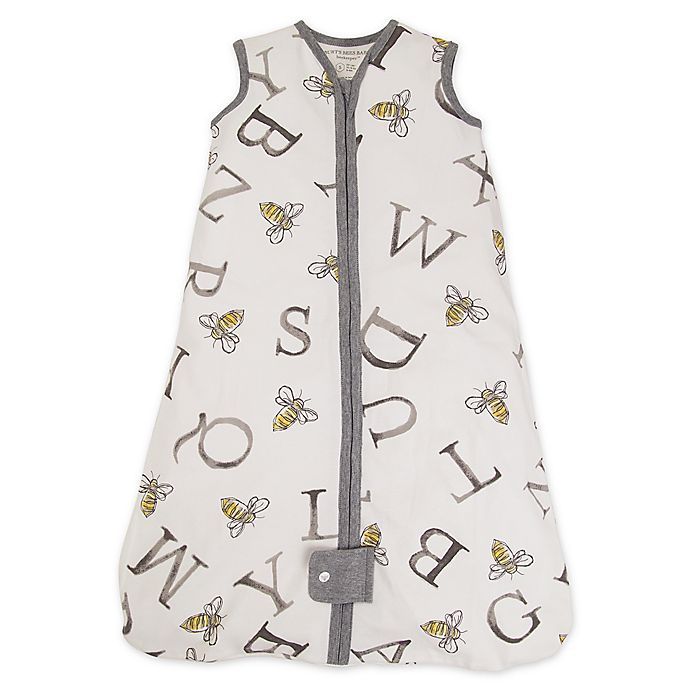 Alternate image 1 for Burt's Bees Baby® Size 0-6M Beekeeper™ Organic Cotton Wearable Blanket in Cloud