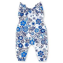 Lamaze® Flowers Organic Cotton Romper in Blue/White