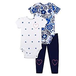 Lamaze® 3-Piece Organic Cotton Bodysuit and Pant Set in Blue