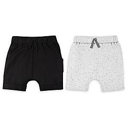 Lamaze® 2-Pack Elastic Waist Organic Cotton Shorts in Black/Grey
