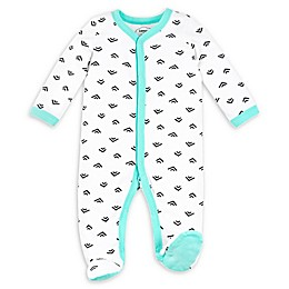 Lamaze® Arrows Organic Cotton Sleep 'N Play Footie in White/Teal