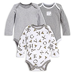 Burt's Bees Baby® 3-Pack A-Bee-C Organic Cotton Long Sleeve Bodysuits