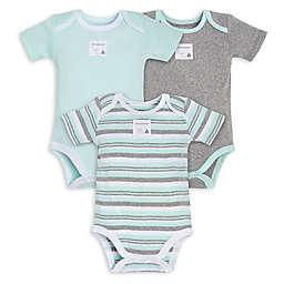 Burt's Bees Baby® 3-Pack Sixties Stripe Organic Cotton Bodysuits in Mint/Grey