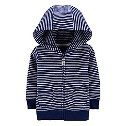 carter's® Striped Zip-Front French Terry Hoodie