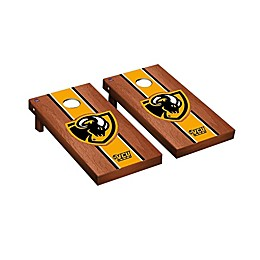 NCAA Virginia Commonwealth Rams Rosewood Stained Stripe Cornhole Set