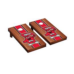 NCAA Western Kentucky Hilltoppers Rosewood Stained Stripe Cornhole Set