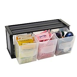Mind Reader 3-Compartment Storage Organizer in Black