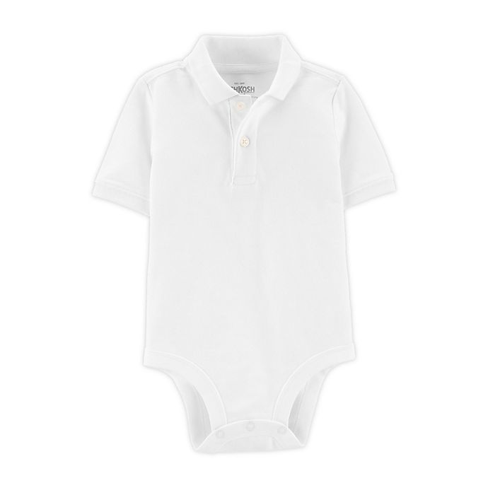 Alternate image 1 for OshKosh B'gosh® Polo Bodysuit