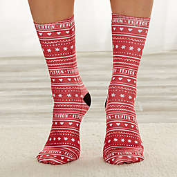 Nordic Christmas Personalized Adult Socks
