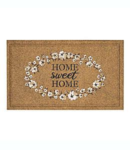 Tapete para entrada Mohawk Home® Home Sweet Home, 45.72 x 76.2 cm en café bronceado/blanco