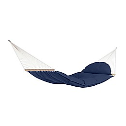 Olefin 6-Foot 10-Inch Tufted Hammock in Navy Blue with Cushion