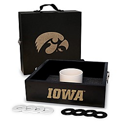University of Iowa Washer Toss Game Set in Onyx