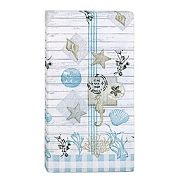 Farmhouse Shell 32-Count Paper Guest Towels in Blue/White