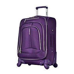 Olympia® USA Marion 25-Inch Spinner Checked Luggage in Violet