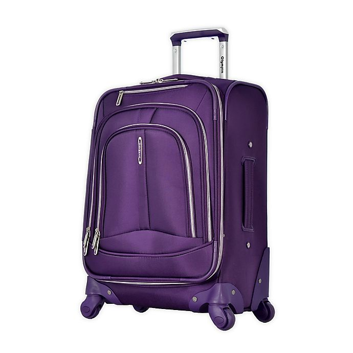 Alternate image 1 for Olympia® USA Marion 25-Inch Spinner Checked Luggage in Violet