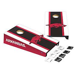 University of Arkansas Desktop Cornhole Bag Toss Set