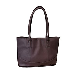 AmeriLeather 13.25-Inch Leather Handbag in Eggplant