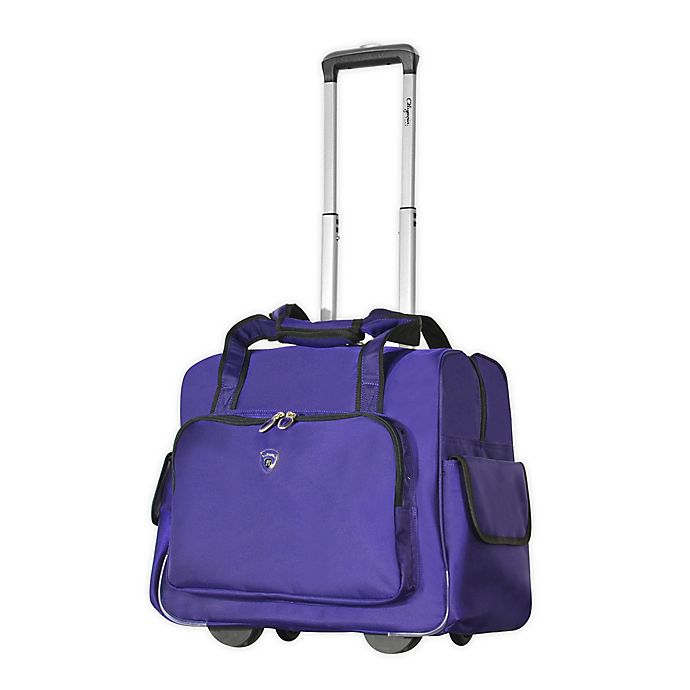 Alternate image 1 for Olympia® USA Fashion 14-Inch Underseat Luggage in Purple