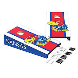 University of Kansas Desktop Cornhole Bag Toss Set