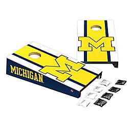 University of Michigan Desktop Cornhole Bag Toss Set