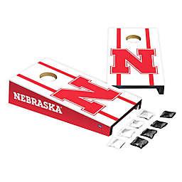 University of Nebraska Desktop Cornhole Bag Toss Set