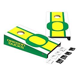 University of Oregon Desktop Cornhole Bag Toss Set
