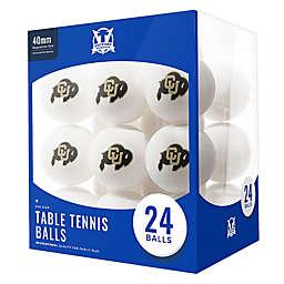 University of Colorado 24-Count Table Tennis Balls