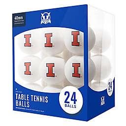 University of Illinois 24-Count Table Tennis Balls