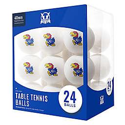 University of Kansas 24-Count Table Tennis Balls