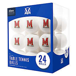 University of Maryland 24-Count Table Tennis Balls