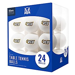Virginia Commonwealth University 24-Count Table Tennis Balls