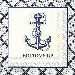 Boston International Bottoms Up Cocktail Napkins (Set of 20)