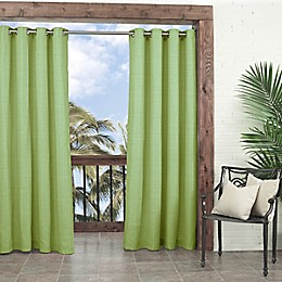 Waverly® Sun-n-Shade Key Largo Grommet Indoor/Outdoor Window Curtain Panel in Green