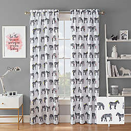 Waverly® Zebra Crossing Rod Pocket Room Darkening Window Curtain Panel