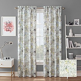 Waverly® Mapped Out Rod Pocket Room Darkening Window Curtain Panel
