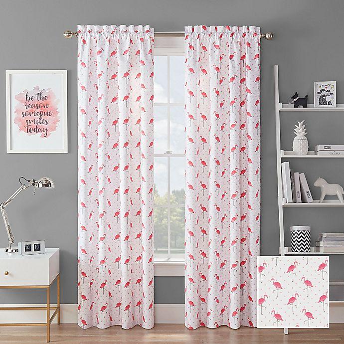 Waverly Flamingo Flock Rod Pocket Room Darkening Window Curtain Panel Bed Bath Beyond