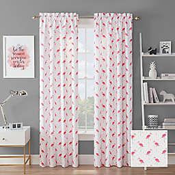 Waverly® Flamingo Flock Rod Pocket Room Darkening Window Curtain Panel (Single)