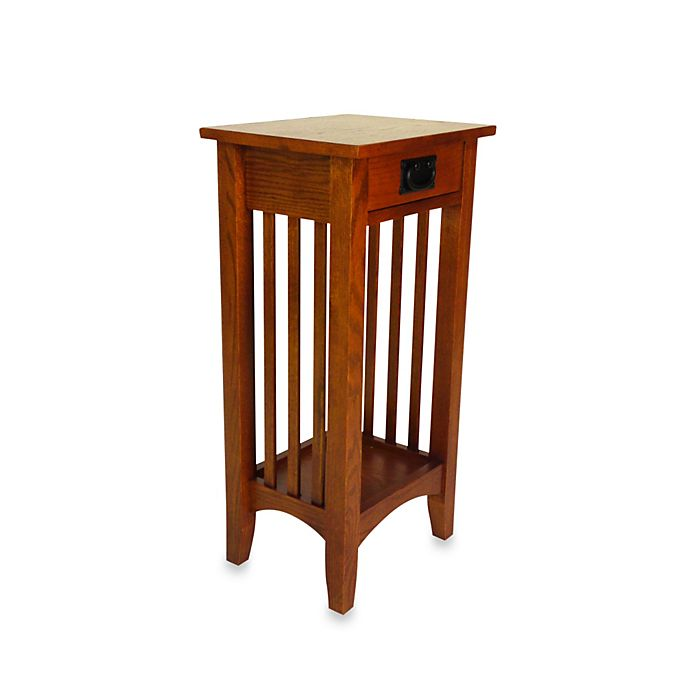 Alternate image 1 for Mission-Style Wood Stand/Side Table in Brown