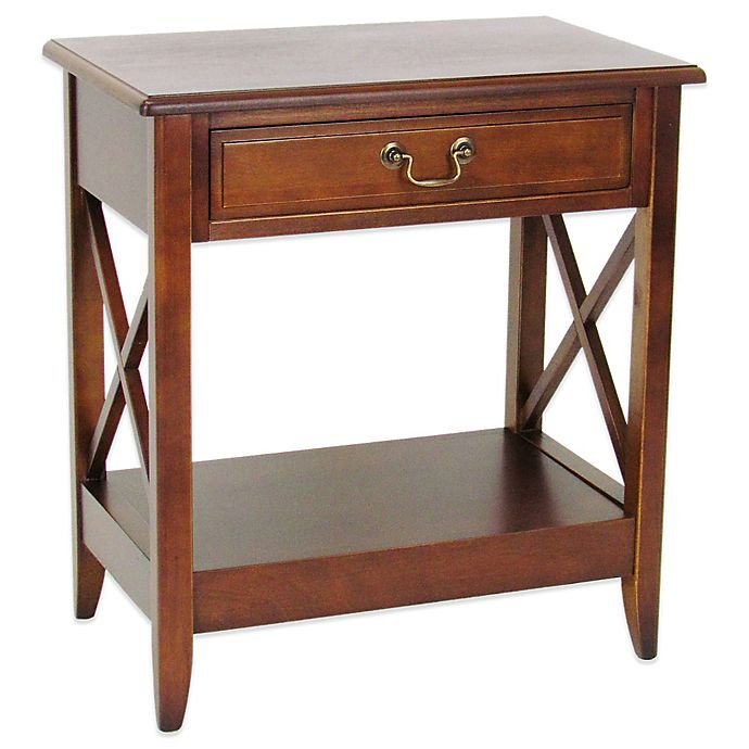 Buy Side Table With 1 Drawer In Brown From Bed Bath & Beyond