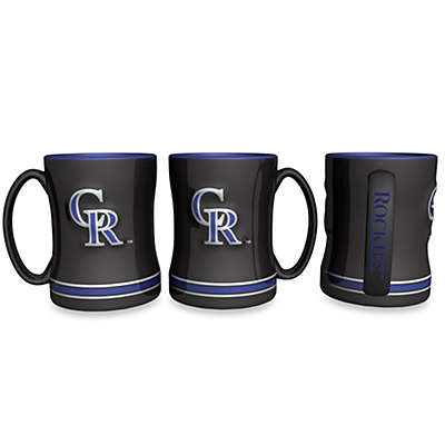 MLB Colorado Rockies 15-Ounce Sculpted Coffee Mug