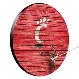 University of Cincinnati Weathered Hook & Ring Toss Game