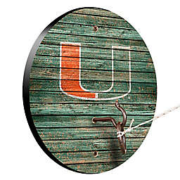 University of Miami Weathered Hook & Ring Toss Game
