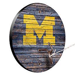 University of Michigan Weathered Hook & Ring Toss Game