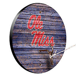 University of Mississippi Weathered Hook & Ring Toss Game