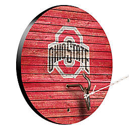 Ohio State University Weathered Hook & Ring Toss Game