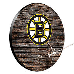 NHL Boston Bruins Weathered Hook and Ring Toss Game