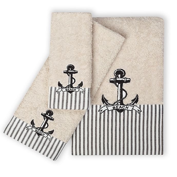 Bath Towels India Online: India Ink Beach Cottage Fingertip Towel