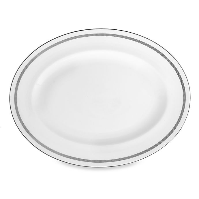 Alternate image 1 for Vera Wang Wedgwood® Vera Infinity 13-Inch Oval Platter