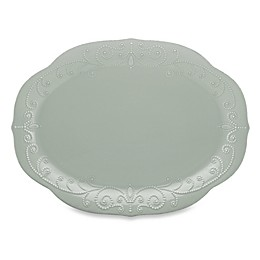 Lenox® French Perle 16-Inch Oval Platter in Grey