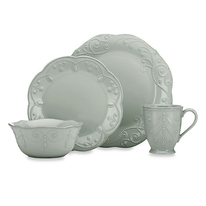 Lenox French Perle Dinnerware Collection In Grey